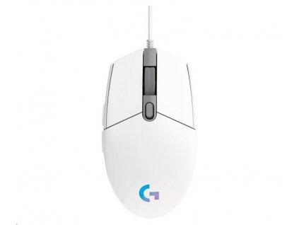 Logitech herní myš G102 2nd Gen LIGHTSYNC Gaming Mouse, USB, EER, White