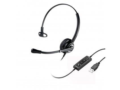 WELL Mairdi MRD-612 USB, náhlavka, jednoušní