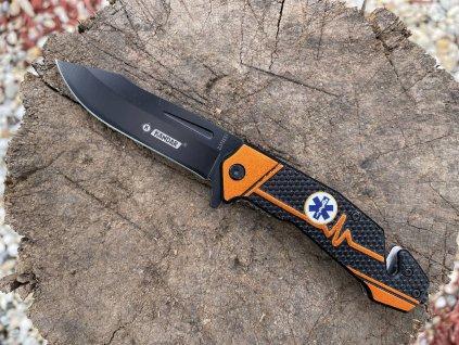 Taktický záchranársky nôž Blue star of life HK 01 (1)