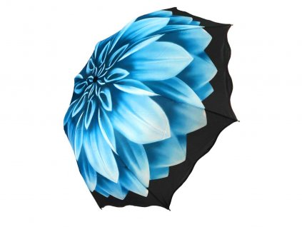 modry kvet zboku
