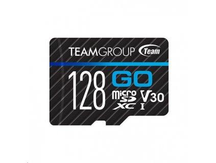 TEAM MicroSDXC karta 128GB GO CARD UHS-I U3 (90/45 MB/s) + SD adapter