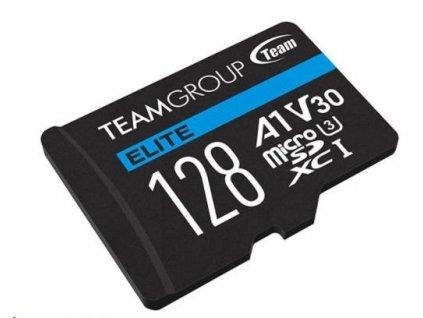 TEAM MicroSDXC karta 128GB ELITE A1 V30 UHS-I U3 (90/45 MB/s) + SD adapter