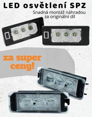 LED osvětlení SPZ za super ceny, ledkové osvětlení SPZ pro Škoda, Audi, BMW, Mercedes, Seat, VW