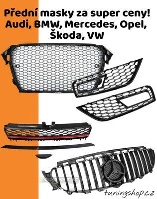 Přední masky TUNING TEC pro Škoda, Alfa Romeo, Audi, BMW, Citroen, Fiat, Ford, Honda, Mercedes, Opel, Peugeot, Renault, Seat, VW.