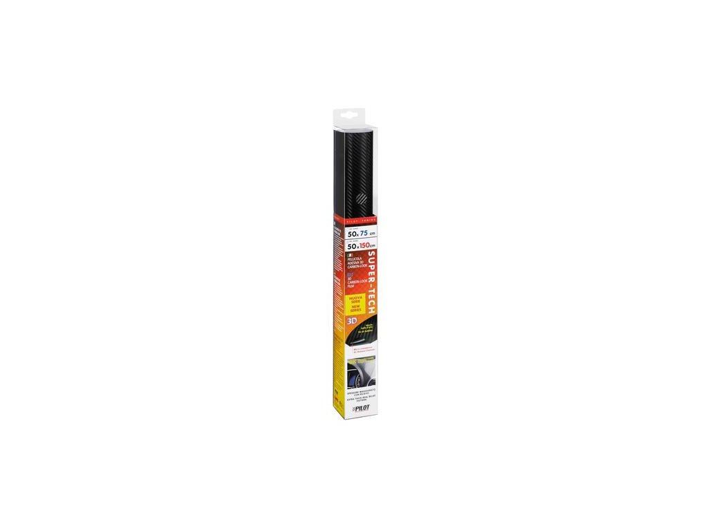 Karbonová fólie/wrapová fólie 3D černá Super-Tech, 50x150 cm
