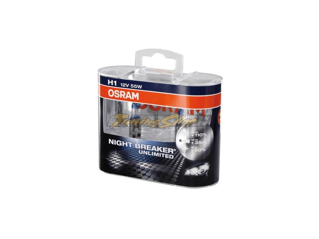 OSRAM NIGHT BREAKER Unlimited H1 12V 55W autožárovky (2ks)
