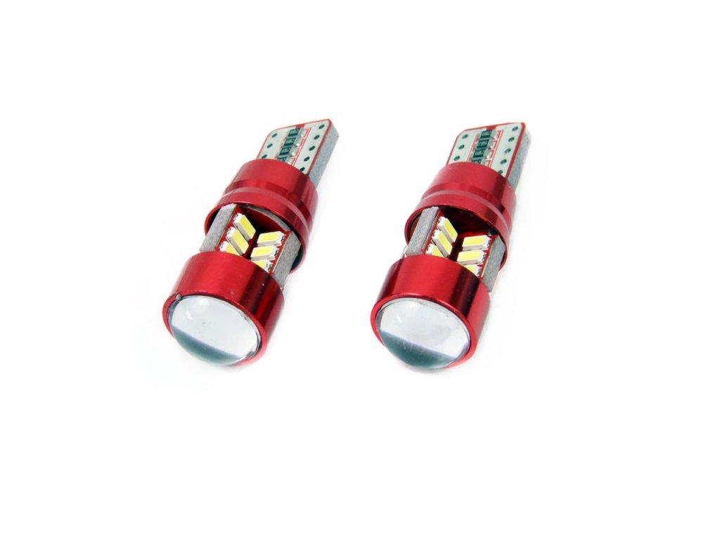 LED žárovka CANBUS 27SMD 3014 T10e (W5W)  bílá 12V/24V