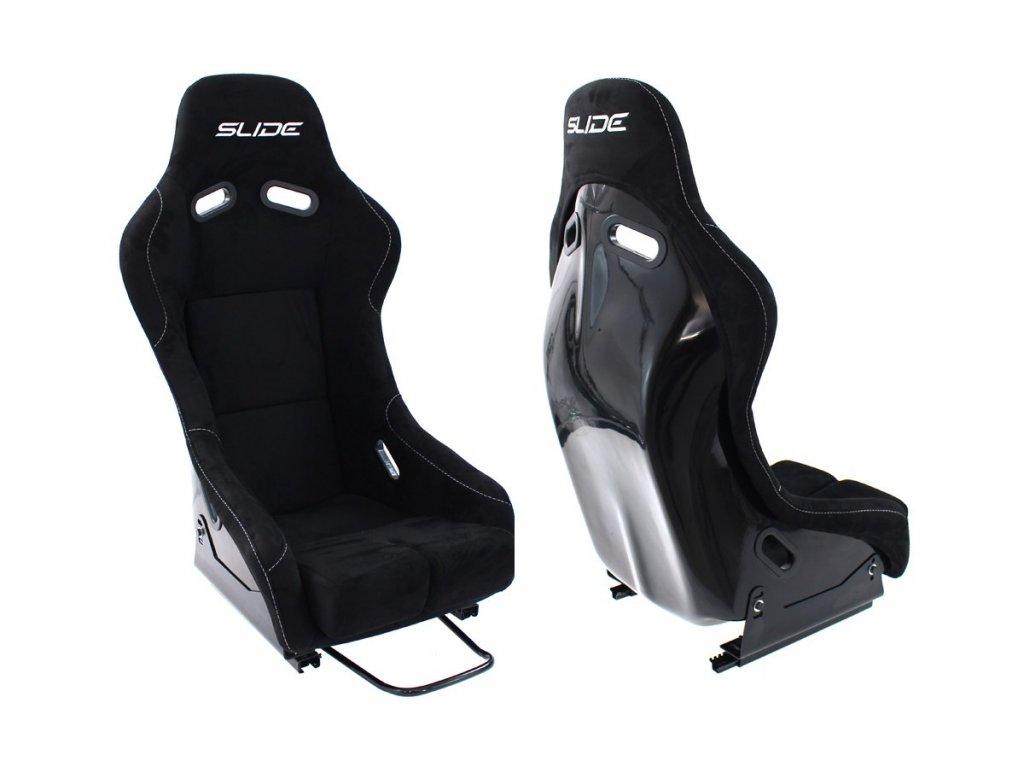 Sportovní sedačka SLIDE RS semiš černá M