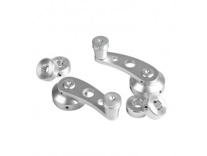Kličky oken - stříbrné 6 cm