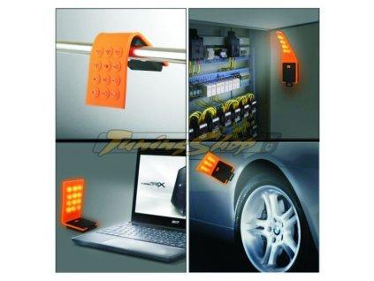 LED svítilna s 12 LED silikonová