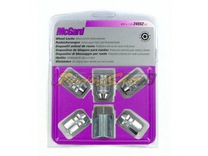 McGard bezpečnostní matky M12x1,25x32,5mm kužel 60, klíč 21