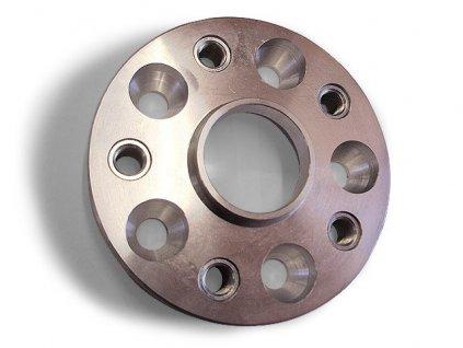 Podložka na změnu rozteče s pouzdry 4x díra / 4x závit.vložka, šířka 25mm