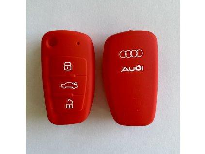 Silikonový kryt klíče Audi A1 A3 A4 A5 A6 A7 A8 Q5 Q7 R8 TT S5 S6 S7 S8 SQ5 RS5 TT - červený