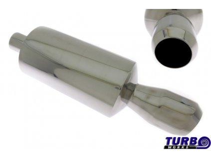 Sportovní výfuk 1x 100mm, vstup 63,5mm TurboWorks