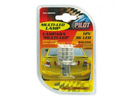 Žárovka 36 LED 12V (PY21W) - BAU15s oranžová