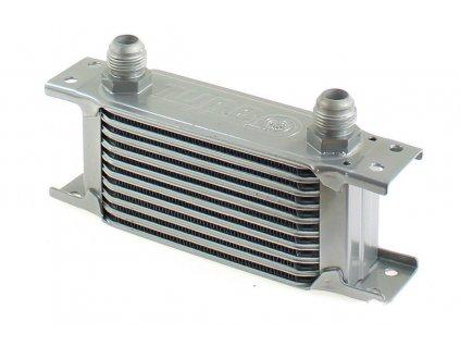 Chladič oleje TurboWorks Slim Line 10-řádků 140x75x50 AN10 stříbrný
