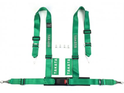 Pasy sportowe 4p 2 Green Takata Replica [97130] 1200[1]