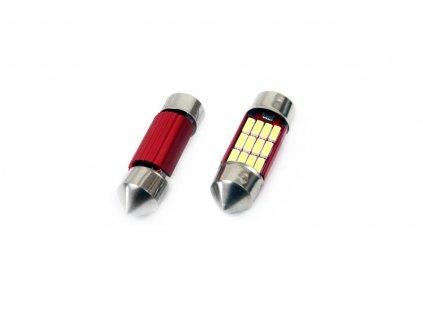 LED žárovka CANBUS 12SMD 4014 sufitka 31mm bílá 12V/24V