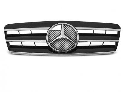 Přední maska Mercedes CLK W208 96-02 CL STYLE chrom černá