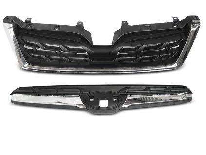 Přední maska Subaru Forester IV 13-18 LCI STYLE chrom černá