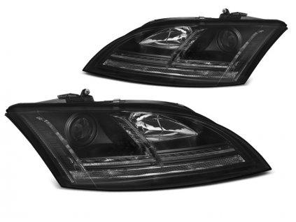 Přední světla Audi TT 06-10 8J černé LED SEQ