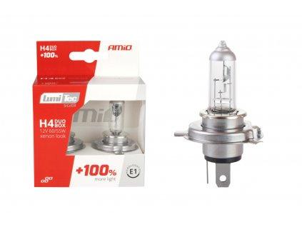 LumiTec H4 12V 60/55W +100% SILVER autožárovky (2ks)