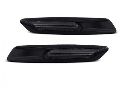Boční blikače BMW E60/ E90 / E92 / E82 LED F10 STYLE černé lesklé