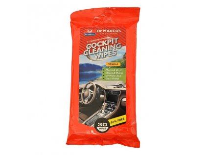 DM COCKPIT CLEANING 30ks VANILLA - čistící ubrousky na plasty