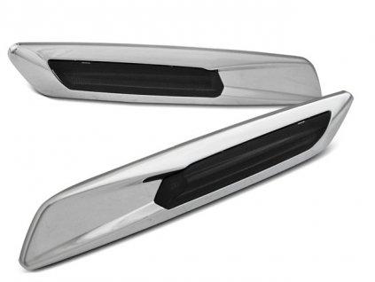 Boční blikače BMW E60 / E90 / E92 / E82 LED F10 STYL kouřová/stříbrná/chrom