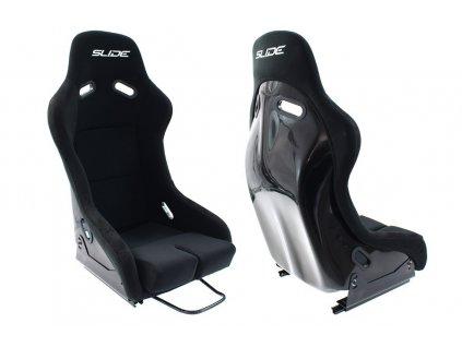 Fotel sportowy SLIDE R1 material Black L [104216] 1200[1]