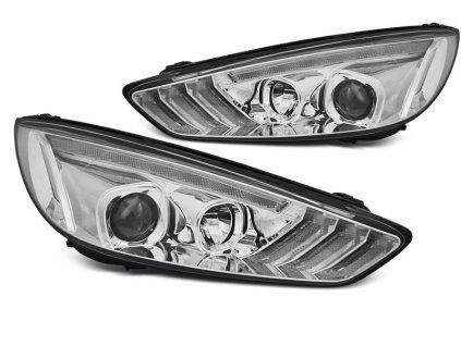 Přední světla Ford Focus MK3 14-18 DRL LED SEQ INDICAOR chrom