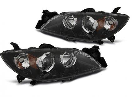 Přední světla Mazda 3 03-09 XENON černá