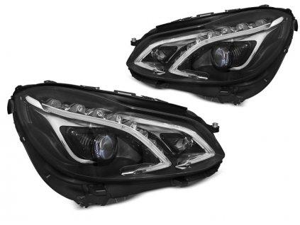Přední světla Mercedes Benz W211, E-classe 13-16 LED DRL černá