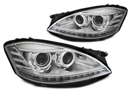 Přední světla Mercedes Benz W221 S-Klasse 05-09 DAYLIGHT SEQ INDICATOR chrom