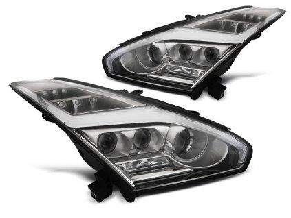 Přední světla Nissan GT-R 08-13 LED chrom