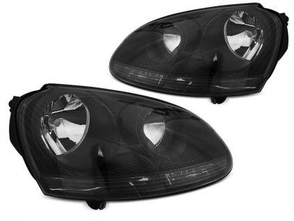 Přední světla VW Golf V 03-09 - černá I
