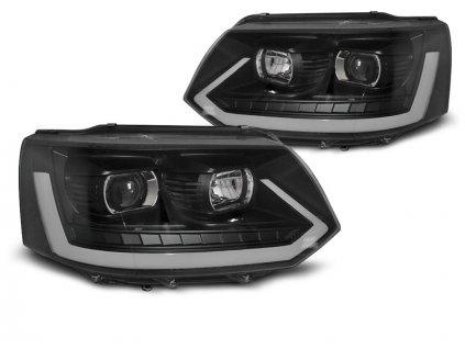Přední světla VW T5 10-15 LED TUBE LIGHT T6 LOOK černá
