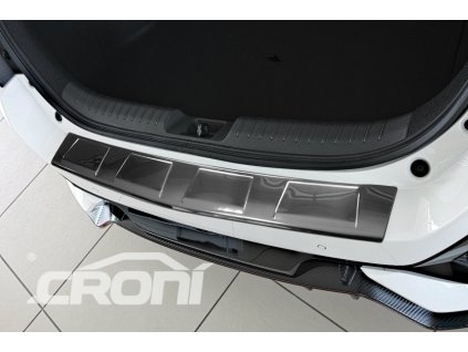 Kryt prahu pátých dveří Mercedes B-Klasa 5dv. htb 2018- - nerez 4 Trapez CRONI
