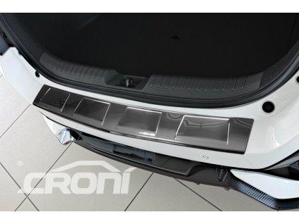 Kryt prahu pátých dveří Škoda Fabia 5dv. combi 2018- - nerez 4 Trapez CRONI