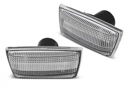 Boční blikače Opel Astra H / Corsa D / Insignia / Zafira bílá LED SEQ