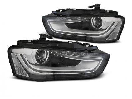 Přední světla Audi A4 B8 12-15 - černá TRU DRL
