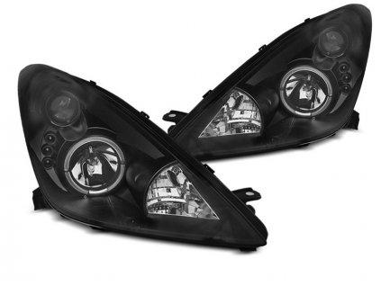 Přední světla Toyota Celica 99-05 Angel Eyes - černá