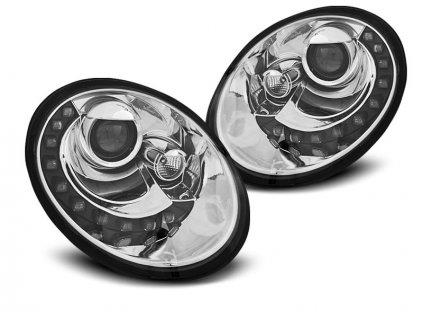 Přední světla VW Beetle 06-12 LED chrom