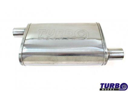 Centrální tlumič výfuku 50mm TurboWorks LT 304SS