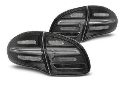 Zadní světla Porsche Cayenne 10-15 černá LED SEQ