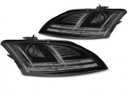 Přední světla Audi TT 06-10 8J černá LED SEQ XENON s AFS