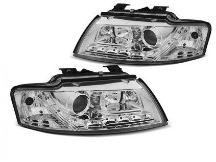Přední světla Audi A4 B6 CABRIO 02-06 chrom LED