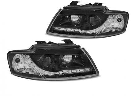 Přední světla Audi A4 B6 CABRIO 02-06 černá LED