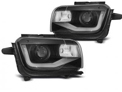 Přední světla Chevrolet Camaro 09-13 TUBE LIGHT černá