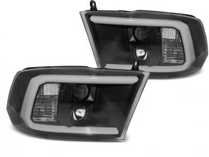 Přední světla Dodge Ram 09-18 Angel Eyes - černá TUBE LIGHT